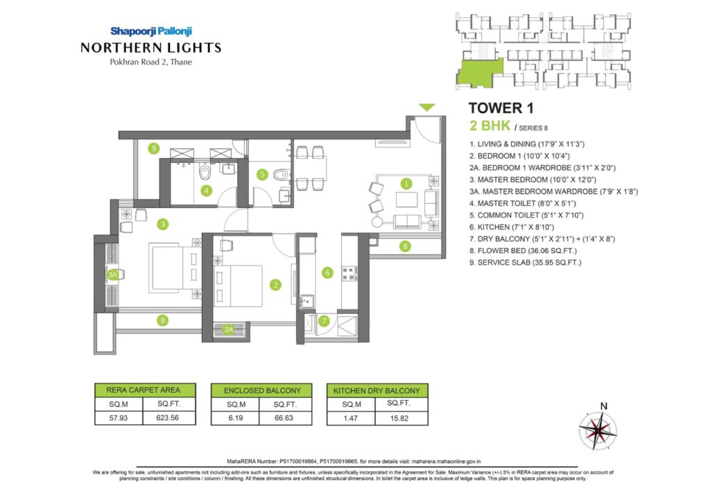 Shapoorji Pallonji Northern Lights Floor Plans