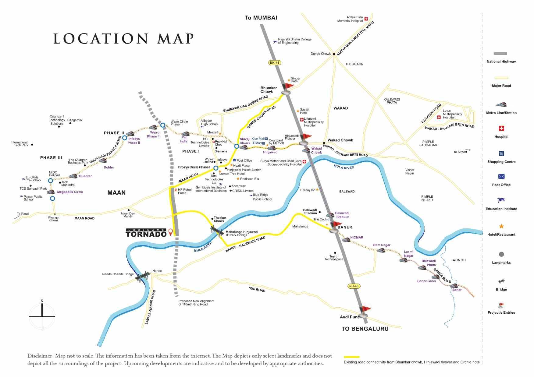 shapoorji pallonji tornado hinjewadi location map
