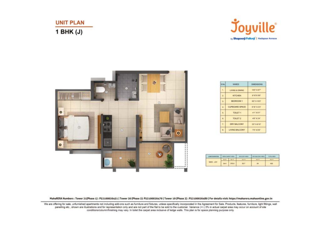 shapoorji pallonji Joyville Hadapsar Annexe floor plans